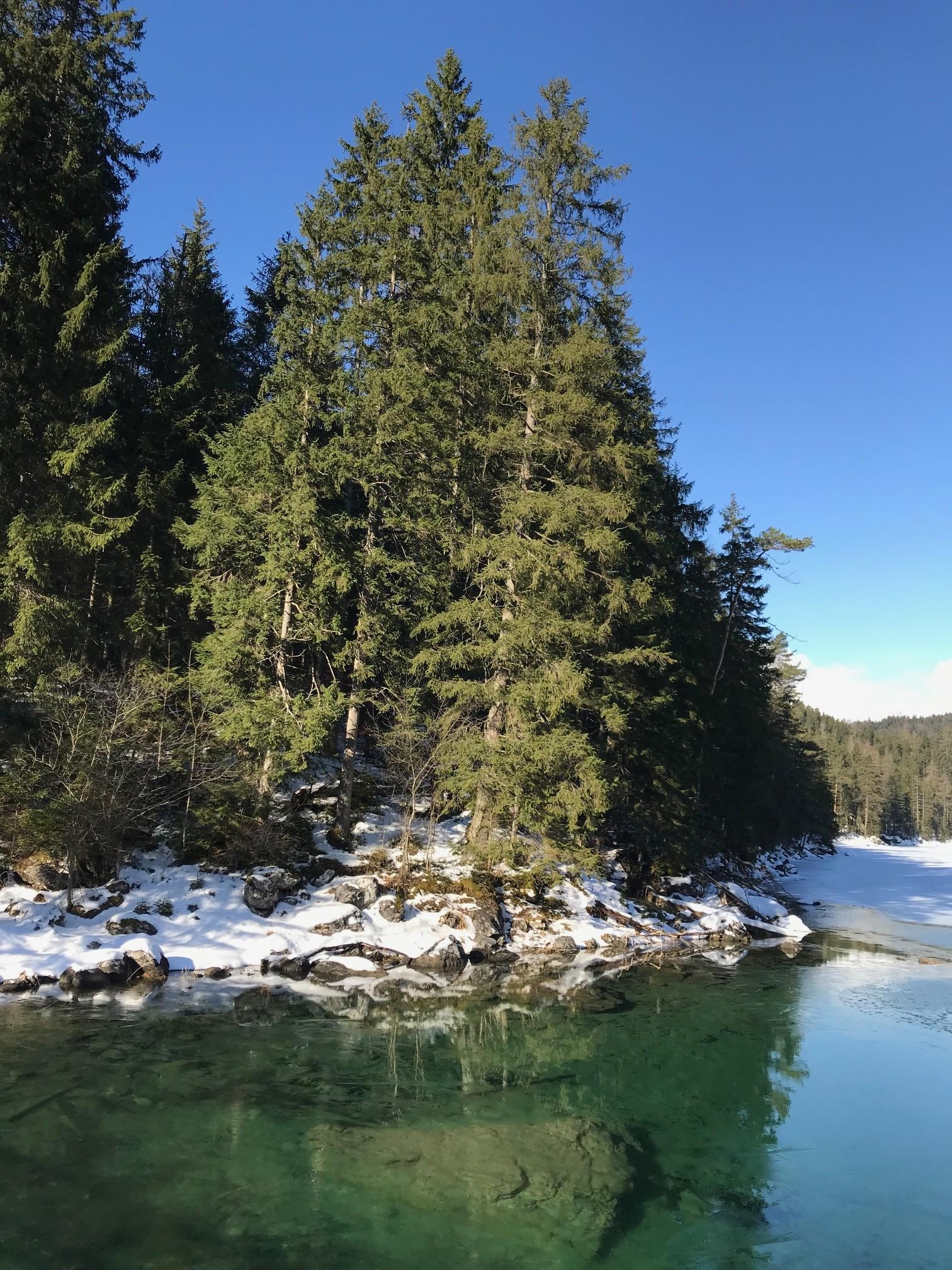 Eibsee an der Zugspitze